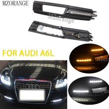 2Pcs LED DRL Daytime Running Light For Audi A6L A6 C6 2009 20102011 Quattro RS Cabriolet Allroad Front Fog Lamp Cover