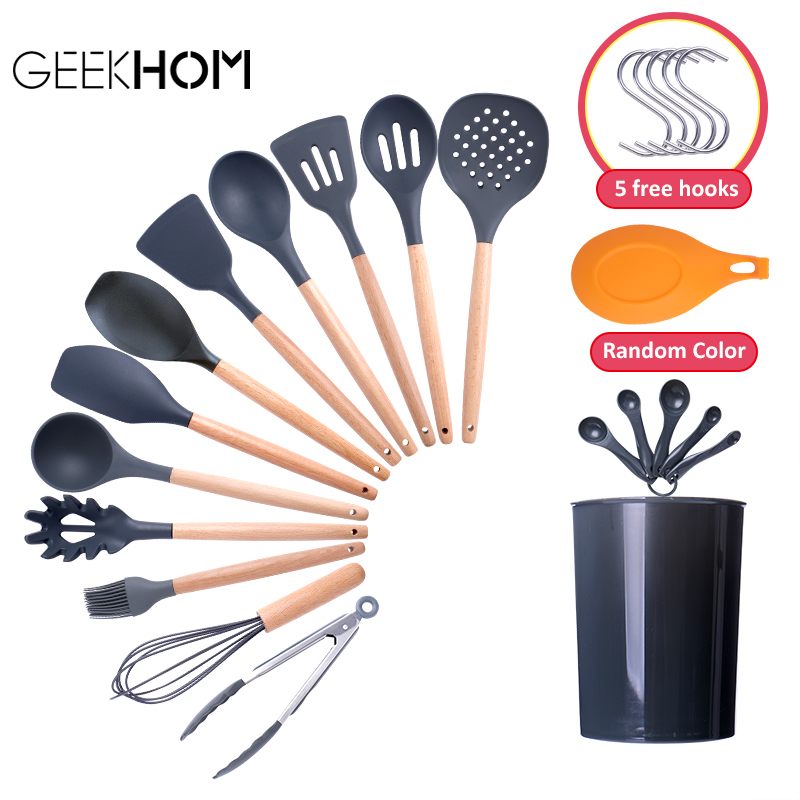 Silicone Kitchenware Cooking Utensils Set Kitchenware Heat Resistant Kitchen Tools Non Stick Cooking Tools Silicone Kitchenware|Cooking Tool Sets|   - AliExpress