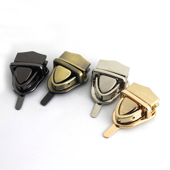 1 Piece Metal Tongue Lock Mortise Lock Clasp for Leather Craft Women Bag Handbag Shoulder Bag Purse DIY Hardware Accessories image