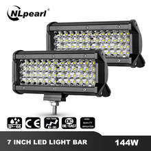 "Nlpearl 4 ""7"" 72W 144W Led Mistlamp Voor Auto Suv Truck 4X4 Atv spotlight Flood Beam Led Verlichting Bar Off Road Driving Fog Lamp(China)"