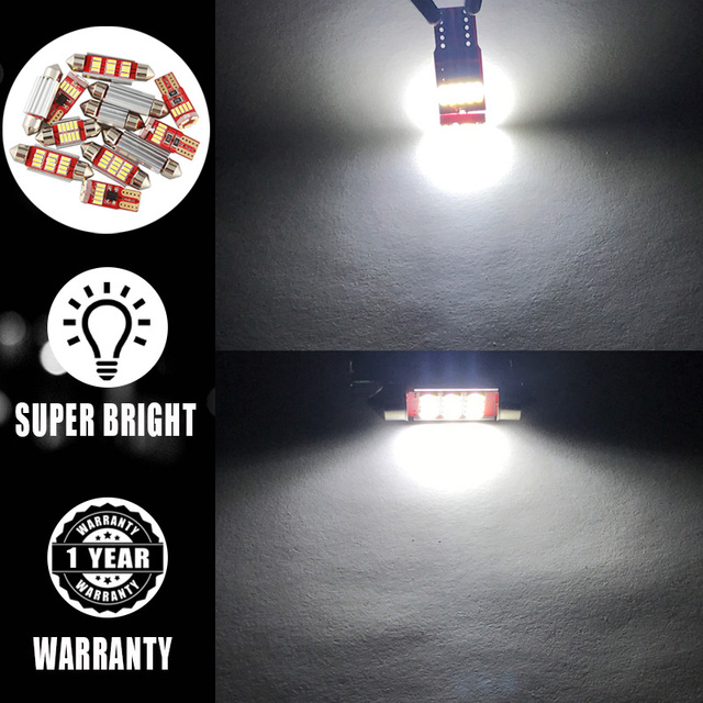 9 Bulbs White Canbus Interior LED Car Light Kit Fit For Chrysler 200 2011 2012 2013 2014 Map Dome Cargo License Lamp No Error 4