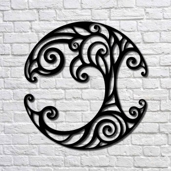 Metal Wall Art Ivy Tree Interior Decoration Home Decor Wall Hanging Home Decoration Wall Art 48x50 cm