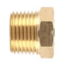 Akcesoria samochodowe wtryskiwacz paliwa do mosiężnej rury Adapter redukcyjny NPT tuleja montaż 3 8in męski na 1 8in żeński na wodę paliwo gazowe tanie tanio DOACT CN (pochodzenie)