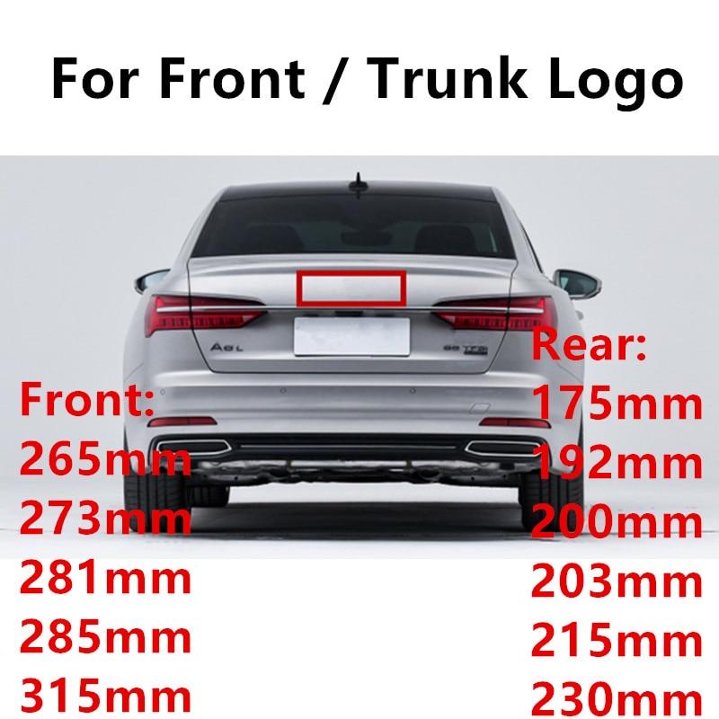 Новинка Стайлинг автомобиля 4 кольца 3D ABS пластик черный хром Карбон гриль Передняя Задняя багажная эмблема Эмблема для A3 A5 Q3 Q5 Q7 A4L A6L C7 B8