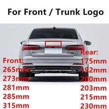 Novo estilo do carro 4 anel 3d plástico abs preto chrome carbono frente bota traseira emblema emblema para a3 a5 q3 q5 q7 a4l a6l c7 b8