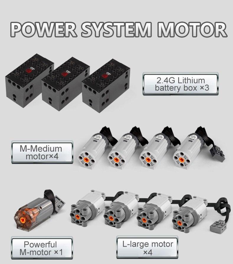 MOULD KING  Technic Motor Power Mobile Crane Mk II Building Block 2