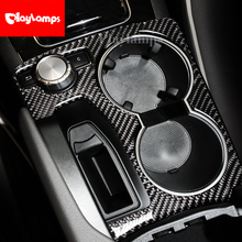 Car Styling Carbon Fiber Multimedia Handrest Panel Cover Trim Stickers For mercedes GLK 2008-2015 accessories