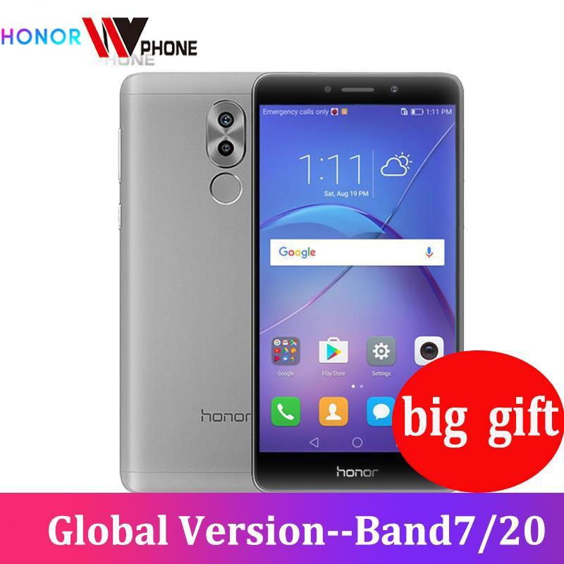 Honor 6X 3GB 32GB ROM Original Mobile Phone 4G FDD 5.5'' 1920x1080P Octa Core Dual Rear Camera Fingerprint ID