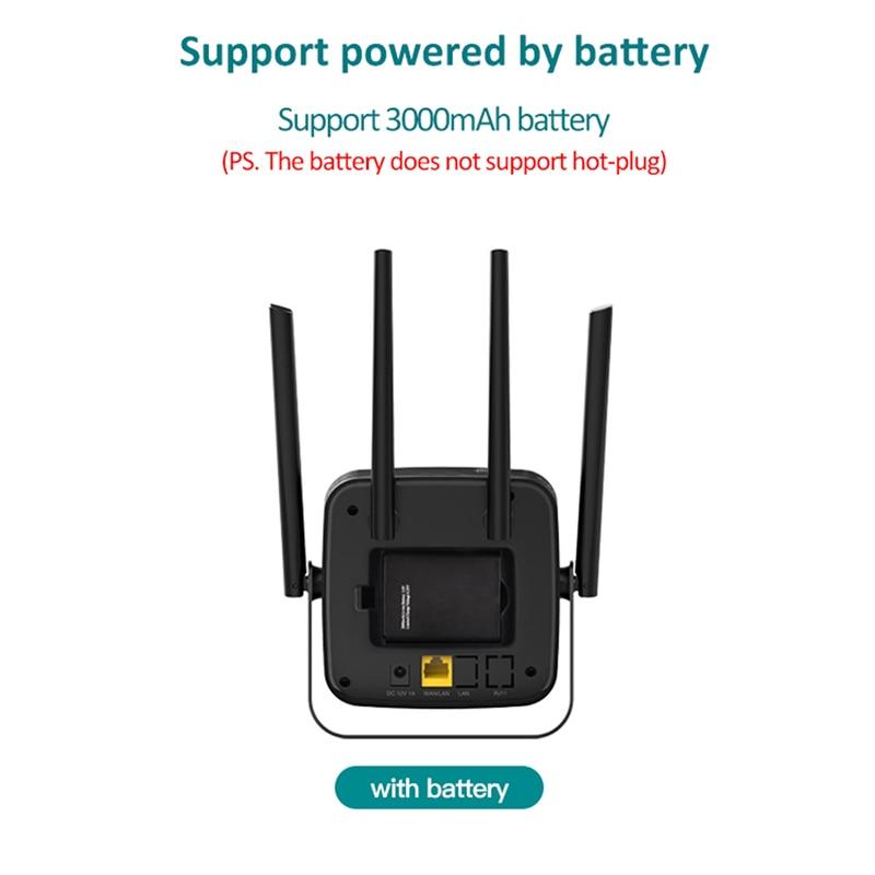 TIANJIE CPE904 router 4g sim kaart 4G wifi router hotspot 4G LTE modem 3000mah batterij pocket wifi modem CPE 4g wifi CPE router - 3
