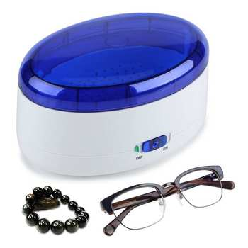 Portable Ultrasonic Cleaner Jewelry Glasses Watch Ultra Sonic Cleaning Machine USB/Battery Powered Ultrasound Washing Machine 800ml ultrasonic cleaner household cleaning machine for watch jewelry glasses false teeth ultra sonic cleaner bath tank