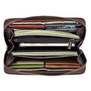Image 3 - Women Wristlet Clutch Wallet Womens Zipper Cell Phone Pouch Wallets Ladies Purse Flower Engraved Genuine Leather