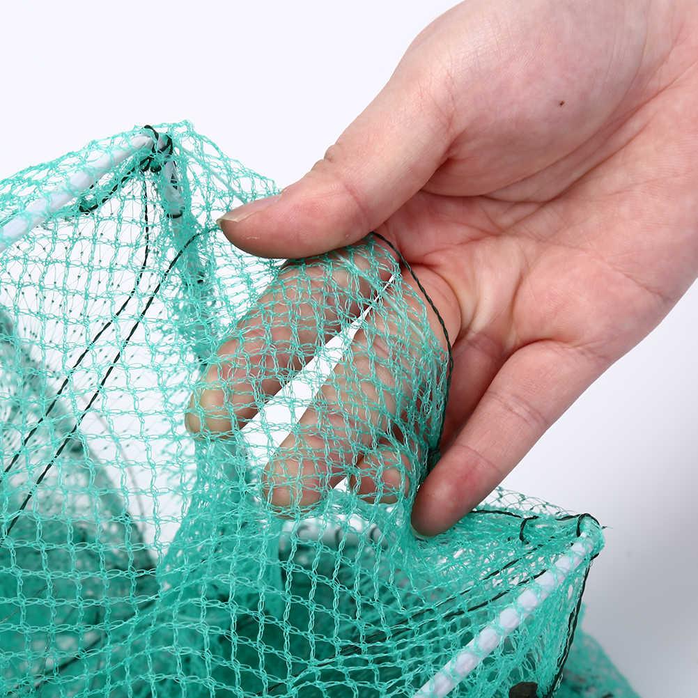 3.3M Gamberetti Richiamo di Reti di Nylon Rete Da Pesca Pieghevole Portatile Granchio Gamberi Lobster Catcher Trappola Dal Vivo Pesce Anguilla Netto