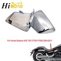 Chrome Black Motorcycle Left & Right Battery Side Fairing Covers Cap For Honda 2004 2011 Shadow ACE 750 VT400 VT750 VT 400 750