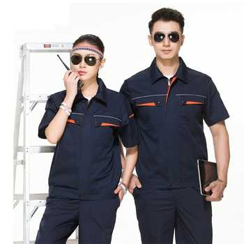 Woman Men Work Overall Workshop Uniforms Spring Thin Pockets Coveralls Welding Suit Car Repair Workshop Coat And Pant Plus Size - DISCOUNT ITEM  20 OFF All Category