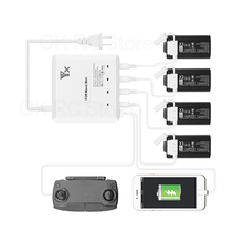 Mavic Mini Intelligente Snel Opladen Hub Multi Battery Charger Ac 100 240V Voor MB2 2400 Dji Mavic Mini Vlucht batterij