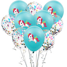 10 Pcs/lot  12inch Unicorn Printing Balloon Confetti Latex Christmas Wedding Birthday Party Decoration