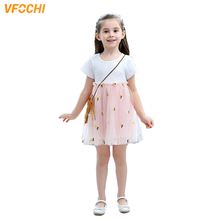 VFOCHI New Girl Princess Dresses Summer Cute Girls Clothes Lace Baby Kids for 3-12Y Ball Gown Party
