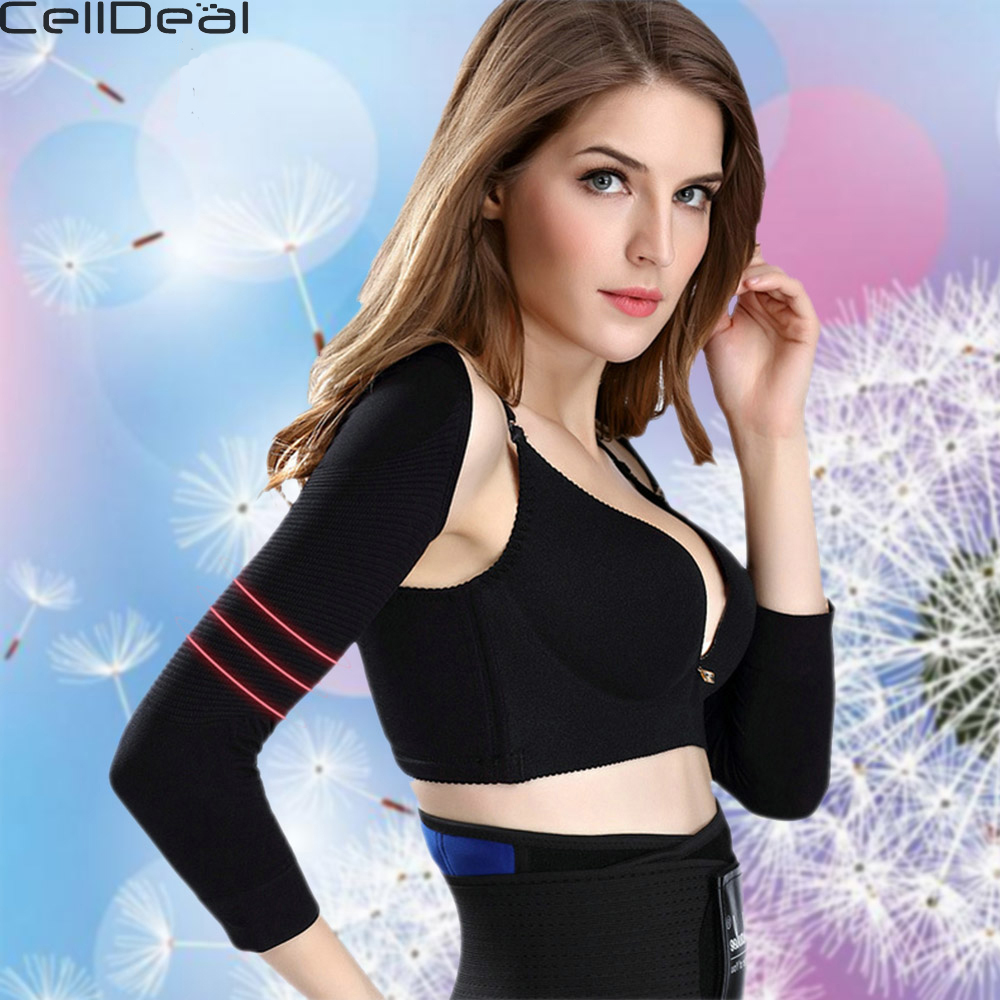 Women Arm Shaper Slimming Weight Loss Calories Off  Back Shoulder Corrector Lift Shapers Massage Arm Control Shapewear Sleeves