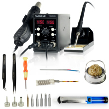 YAOGONG 8586  BGA new rework station Double digital 2 In 1 smd rework soldering station hot air gun mobile phone repair tools