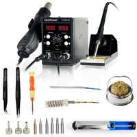YAOGONG 8586 BGA nouvelle station de reprise Double numérique 2 en 1 smd station de soudure de reprise pistolet à air chaud outils de réparation de téléphone portable