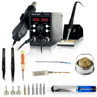 YAOGONG 8586 new rework station Double digital 2 In 1 smd rework soldering station hot air mobile phone repair tools