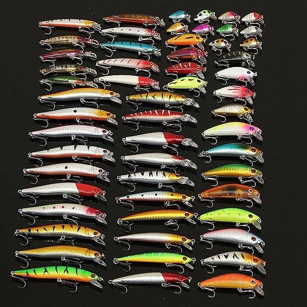 Novo 56 pçs set modelos misturados iscas