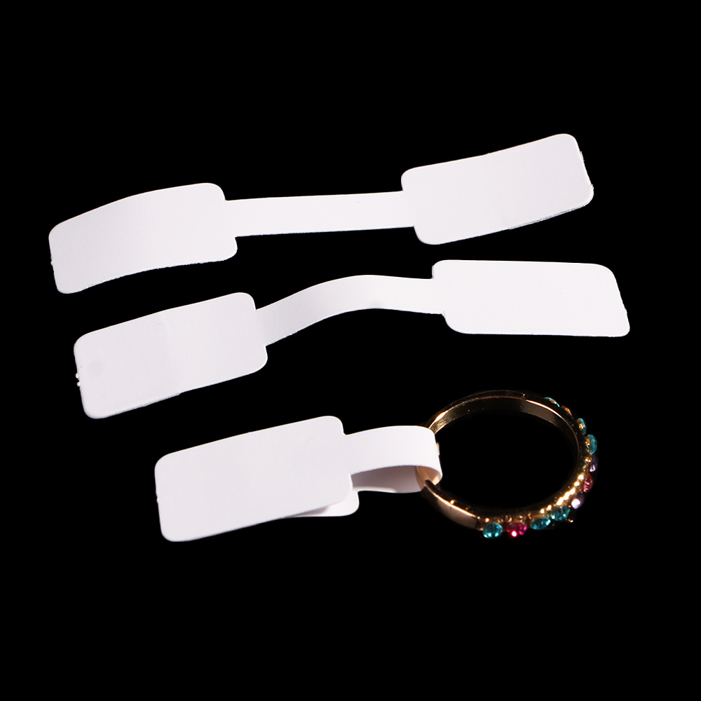 100Pcs White Blank Jewelry Price Tags Paper Price Labels Practical Necklace Ring Hang Size Jewelry Sticky Price Display Tags