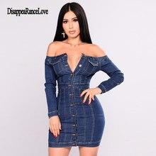 Disappearancelove Backless Bodycon Midi Dress Women Summer Vestidos 2019 New Button Jeans Sexy Split Ladies Denim Dresses