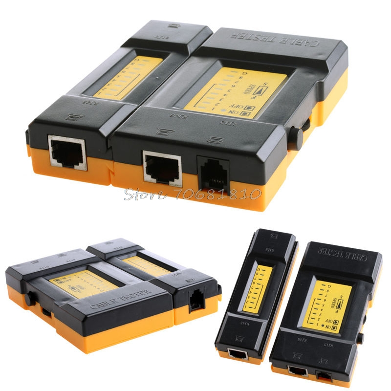 Speed Compute Network Cable Tester RJ45 + RJ11 Lan Wire Ethernet 468VR Hot
