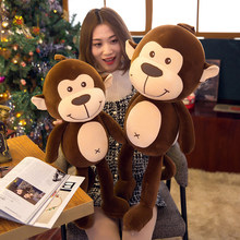 30-70cm lindo mono de peluche de juguete muñeca suave almohada mono de peluche animal relleno niño regalo novia WJ124