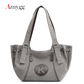 Large Capacity Casual Tote Women Shoulder Bags Fashion Brand Messenger Bags Ladies Shoulder Bags High Quality Canvas Women Hand фото
