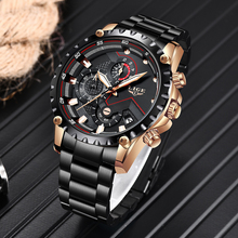 2019 LIGE Men Watch Chronograph Top Luxury Brand Stainless Steel Business Clock Army Sport Quartz Male Watches Relogio Masculino цена и фото