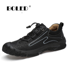 Plus Size Breathable Men Shoes Spring Autumn Genuine Leather Casual Shoes Fashion Sneakers Breathable High Quality Flats Shoes plus size 34 43 genuine leather women shoes fashion leisure spring pointy bling rhinestone flats shoes patent leather crystal