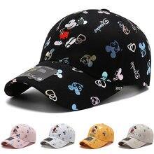 Disney mickey mouse chapéu menino menina bonés minnie mouse anime crianças adulto bonés de beisebol ajustável