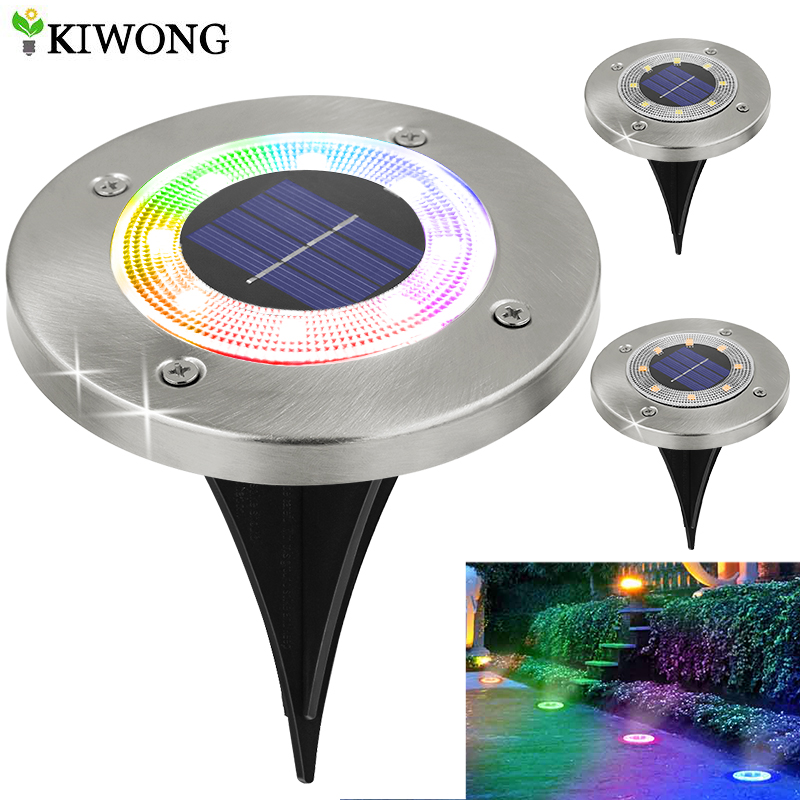 8 LED Outdoor Solar Garden Lights Waterproof In Ground Light Solar Lamp Lighting for Pathway Yard Deck White/Warm White/RGB|Solar Lamps|   - AliExpress