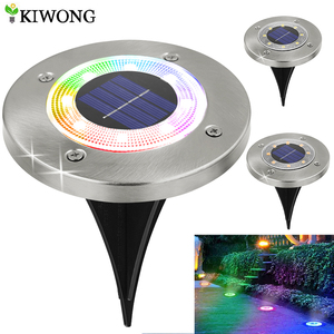 8 LED Outdoor Solar Garden Lights Waterproof In-Ground Light Solar Lamp Lighting for Pathway Yard Deck White/Warm White/RGB(China)