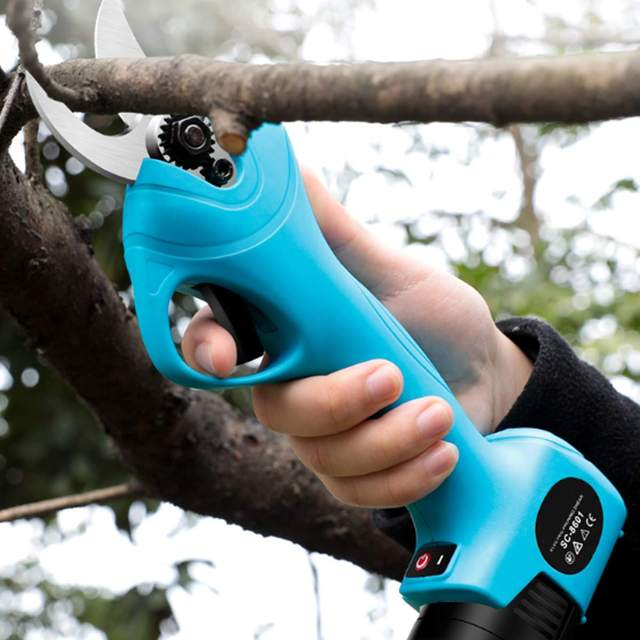 16.8V Cordless Electric Rechargeable Lithium Pruning Shears Secateur Branch Cutter Electric Fruit Pruning Tool Garden Pruner 1