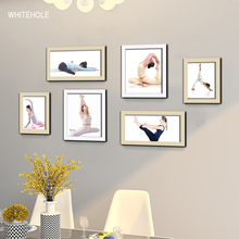 6Pcs/Set Wooden Picture Frame For Wall Wood Frame For Pictures Wall Hanging Photo Frame Poster Frames 100pcs paper photo frame set picture mats mini wooden clips string hanging cardboard picture frame for home room wall decor diy