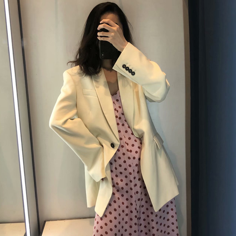 2020 Spring Autumn Elegant Office Lady Blazers And Jackets Women Solid Pockets Oversize Suit Coat Female Tops Blazer Feminino