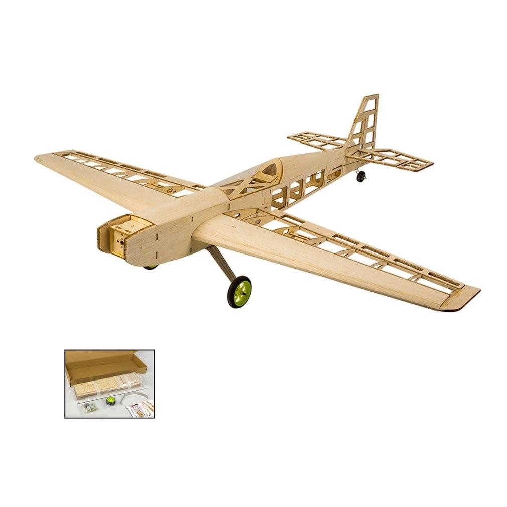 EP Balsa Wood Training Plane 0.8M Wingspan Biplane RC Airplane Aircraft Woodiness Model Toys DIY KIT/PNP for Kid