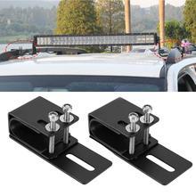 1 çift evrensel araba LED ışık çubuğu montaj braketi Offroad oto SUV çatı bagaj rafı montaj braketi çalışma lamba standı tutucu