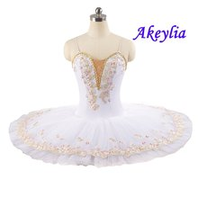 Белая балетная пачка детские костюмы для танцев лебедей и озер