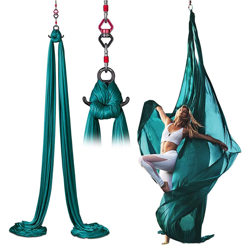 High Quality Aerial Yoga Hammock Set Acrobatic Dance Yoga Hammock Aerial Silk Fabric Yoga Swing For Home