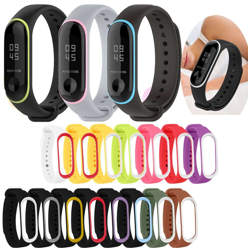 Replacement Sport Silicone Watchband Bracelet For Xiaomi Mi Band 3/4 Fitness Smartwatch Colorful Comfortable Strap For Mi Band 4