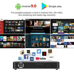 Image 2 - Vivicine P10 4K Mini projektor, Android 9.0 Bluetooth, bateria 4100mAh, HDMI USB gra komputerowa mobilny kieszonkowy Proyector Beamer