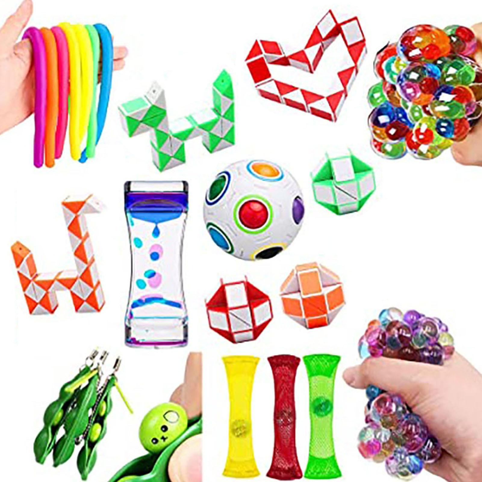 26 Styles Fidget Sensory Toy Set Stress Relief Toys Pop Bubble Stress Relief Squeeze Sensory Toys