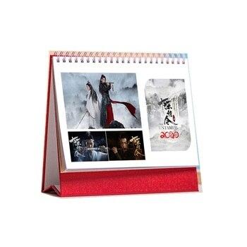 2020 the untamed TV chen qing ling table calendar album wei wuxian lan wangji character monthly planner decor long wei tvt 322 double needle mv table long wei tvt 322 mv table