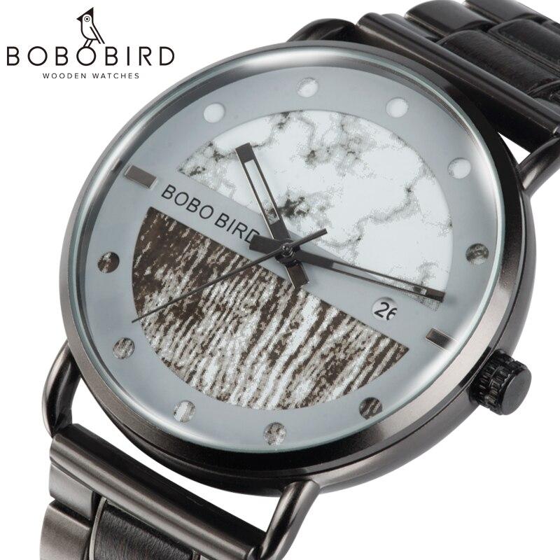 Erkek Kol Saati BOBO BIRD Men Wood Watch Luxury Quartz Timepieces Chronograph Military Wristwatch With Gift Bamboo Box V-R30/S01
