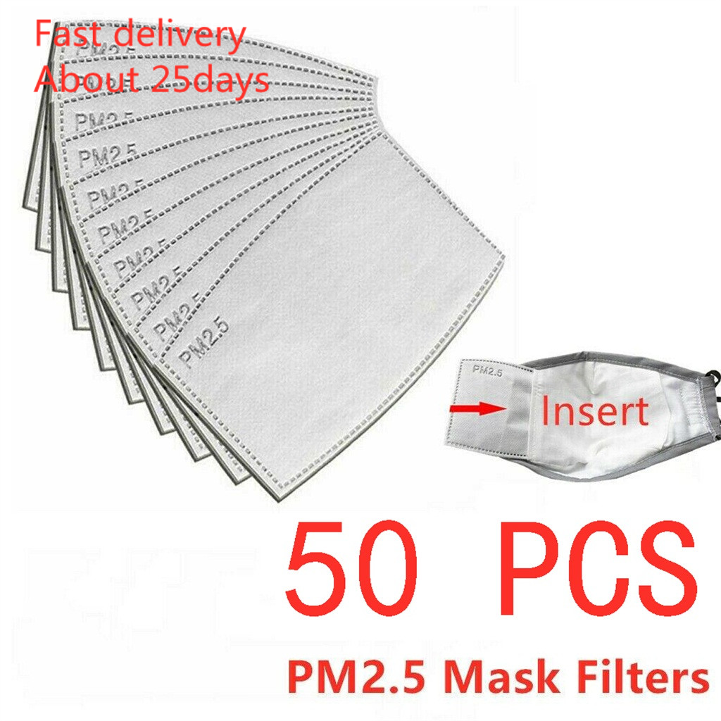 Mask Mascara Coronavirus Pm2.5 Activated Carbon Filter Face Mask Breathing Insert Protective Mouth Ma Masks