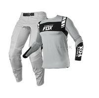 2021 grigio MX ATV Dirt Bike Flexair Mach 360 Gear Set moto Motocross Suit Mountain Bike Offroad Mens pantaloni in Jersey grigio